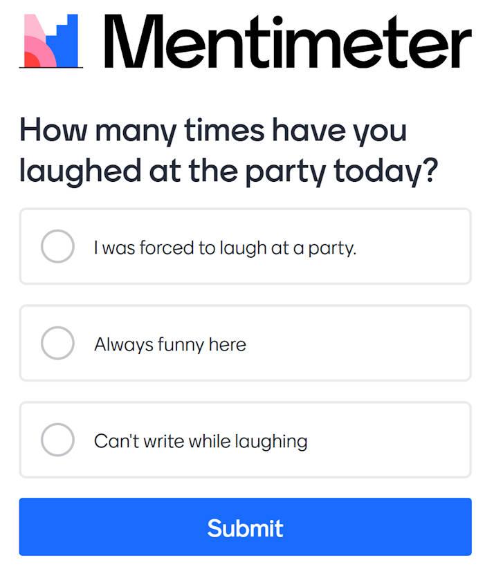 Mentimeter Multiple Choice en